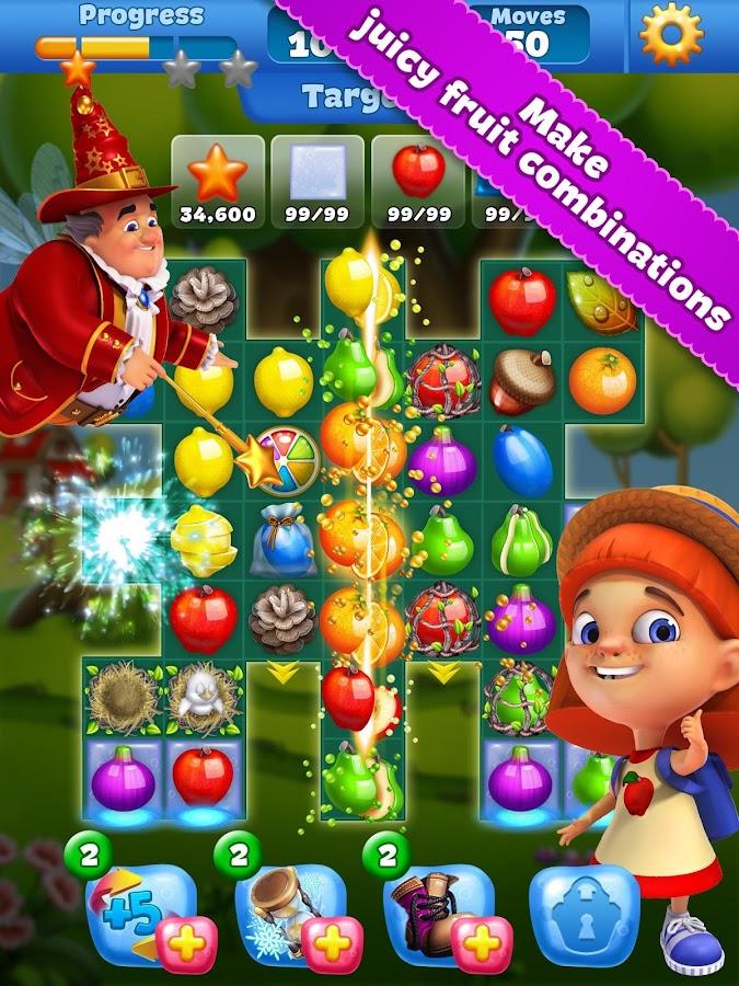 Image result for fruit land match 3 game