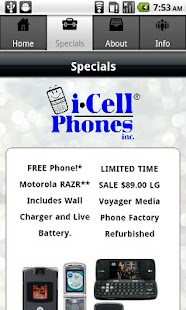 iCellPhones - screenshot thumbnail