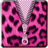 Pink Cheetah Zipper Lockscreen