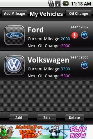 Oil Change Reminder- screenshot
