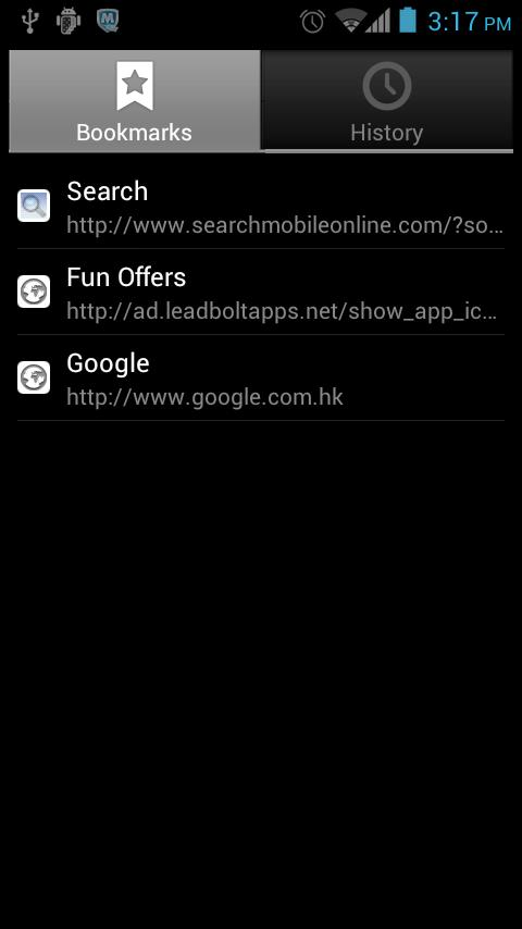 Browser for Android - screenshot