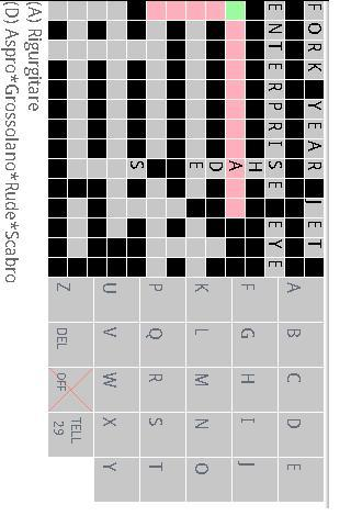 Italian toEnglish crossword - screenshot