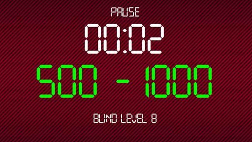 Pro Poker Blind Clock Timer