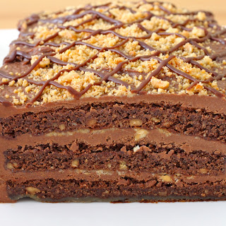 Amazing Chocolate and Peanut Butter Cake.