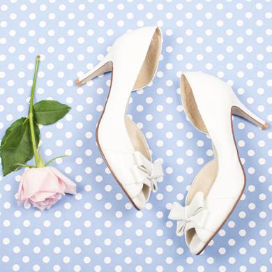 Kitten heels for your wedding day