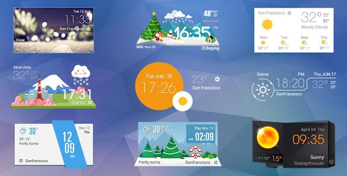 Cartoon cute weather Icon set