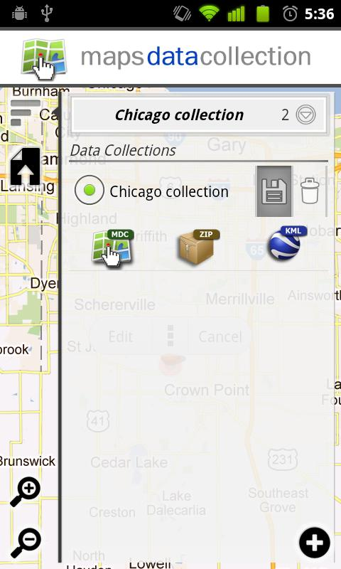 Maps Data Collection - screenshot