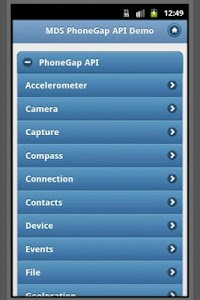 PhoneGap API w/ jQuery Mobile screenshot 0