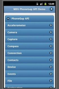 PhoneGap API w/ jQuery Mobile - screenshot thumbnail