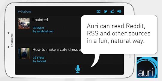 Auri (Voice Reddit and RSS) Screenshot 4