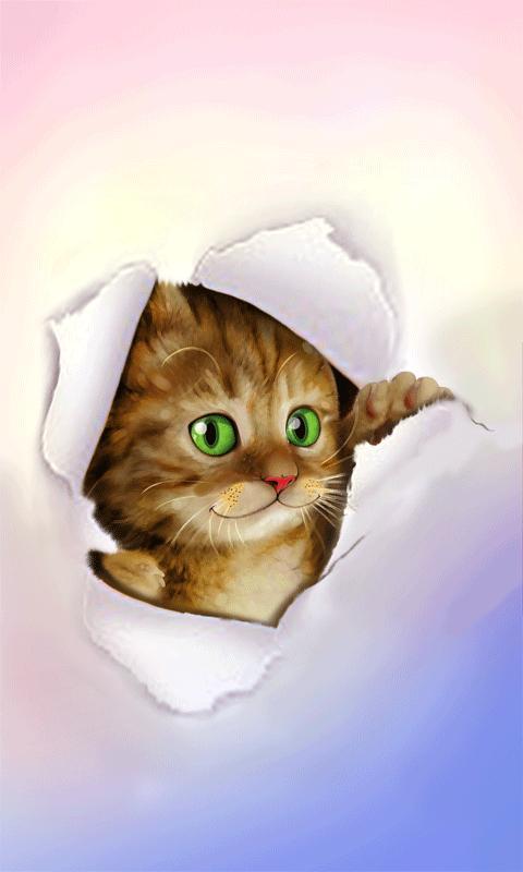 Silly Cat Live Wallpaper - screenshot