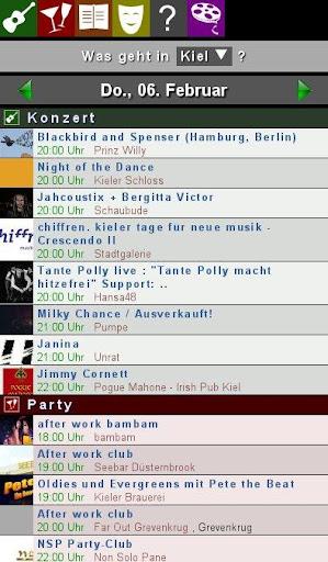 Was geht Konzerte Party ..