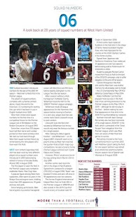 West Ham United FC Programme - screenshot thumbnail
