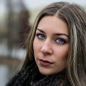 Blue Eyes by Cosmin Lita - People Portraits of Women ( girl, pretty girl, blue eyes,  )