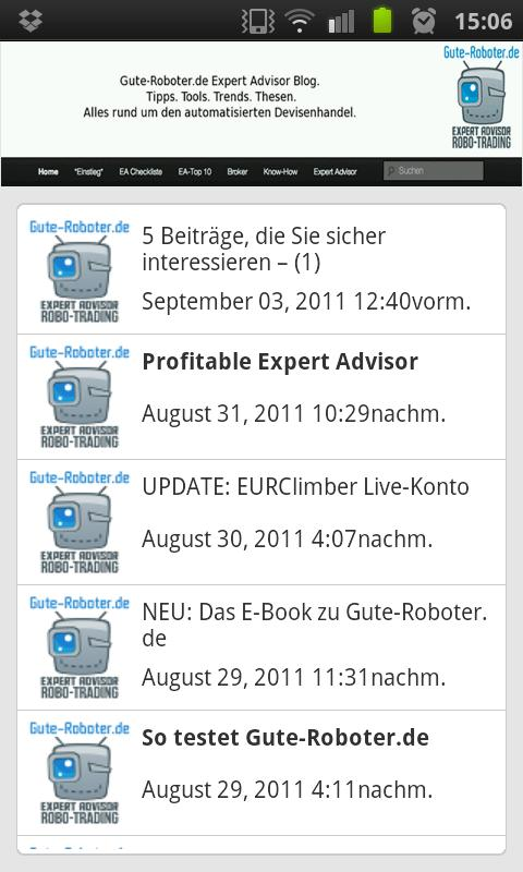 Forex Expert Advisor APP by GR - screenshot