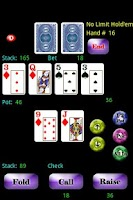 Screenshot of Headsup Poker Free