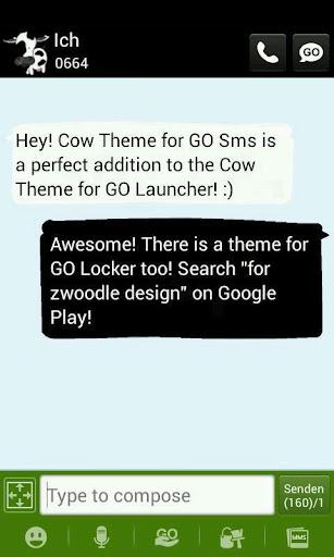 Cow Theme GO Sms