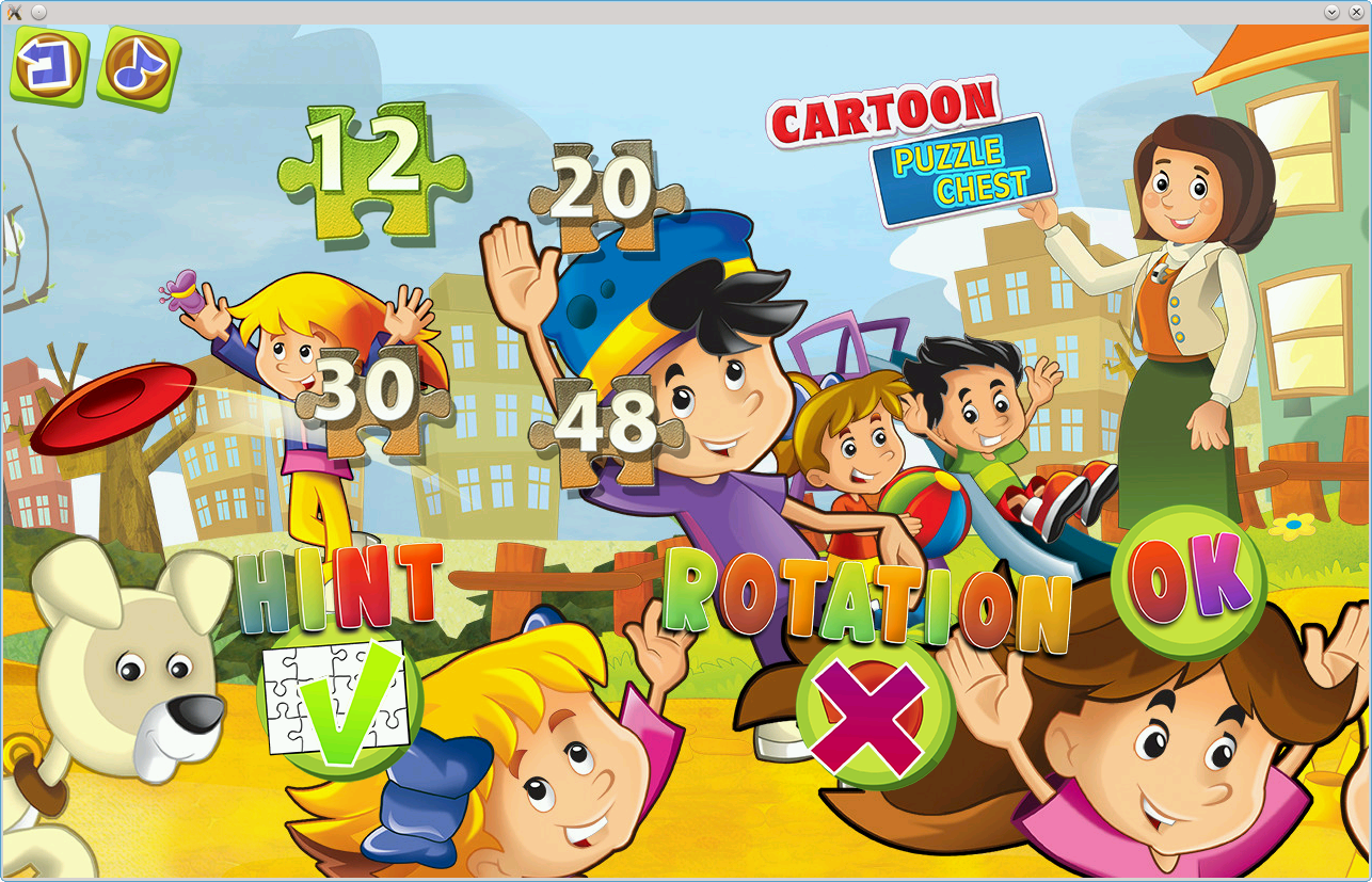 Cartoon Children Puzzle Chest- screenshot