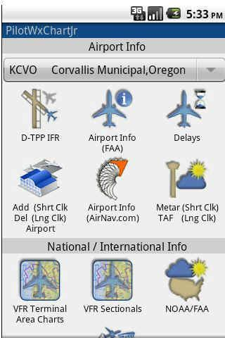 PilotWxChartJr with PilotGPS - screenshot