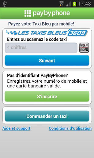 PayByPhone Taxis Bleus