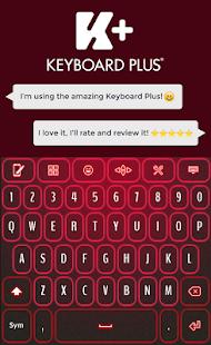 Neon Red Keyboard - náhled