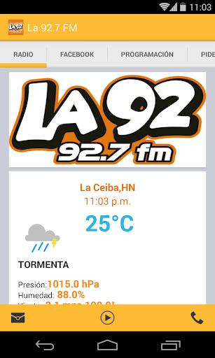 La 92.7 FM La Ceiba