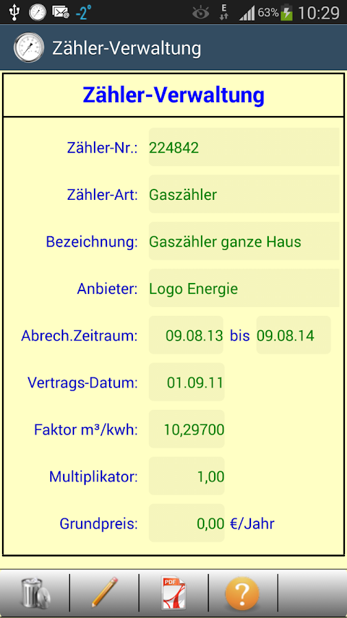 HB-Verbrauchszähler - screenshot