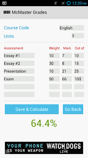 McMaster Grades