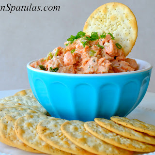 Summertime Salmon Salad with Black Pepper Water Crackers