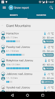 Screenshot of Meteor (Weather) » Snow report