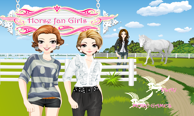 Horse Fan Girls – Horse game - screenshot
