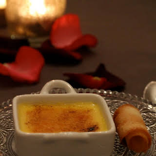 Creme Brulee with Passion Fruit.