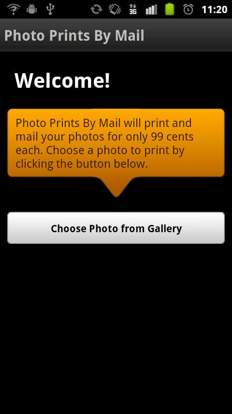 Photo Prints by Mail - screenshot