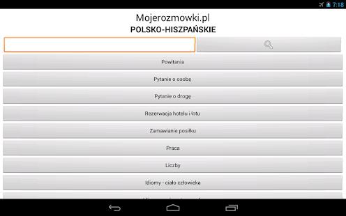 Rozmówki Polsko-Hiszpańskie - screenshot thumbnail