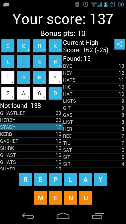FIND words and numbers - screenshot