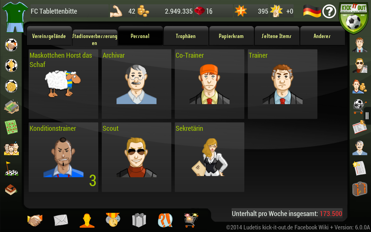 Kick it out! Soccer Manager- screenshot