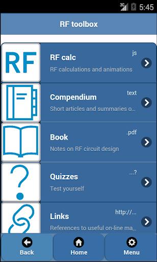 RF circuits toolbox