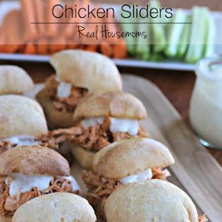 Slow Cooker Buffalo Chicken Sliders.