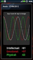 Screenshot of Biorhythm Widget NO ADS