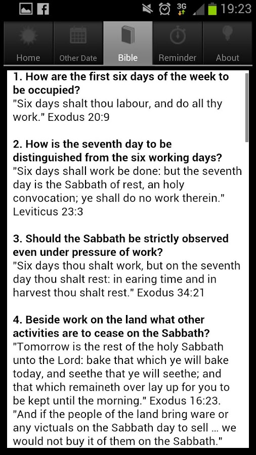 The Sabbath App- screenshot