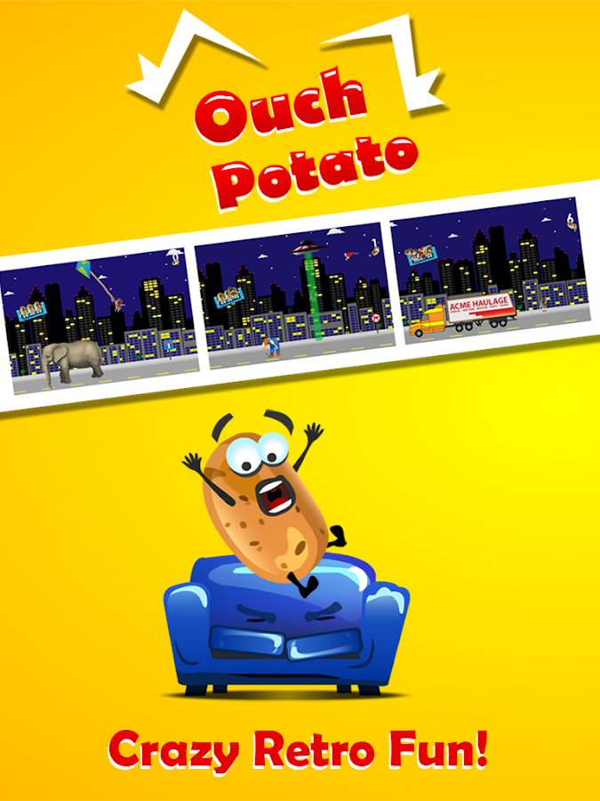 Ouch Potato - Crazy Couch Taxi- screenshot