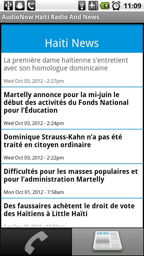AudioNow Haiti Radio and News - screenshot