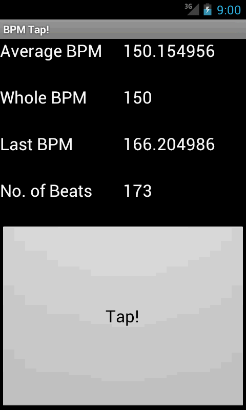 BPM Tap! - screenshot