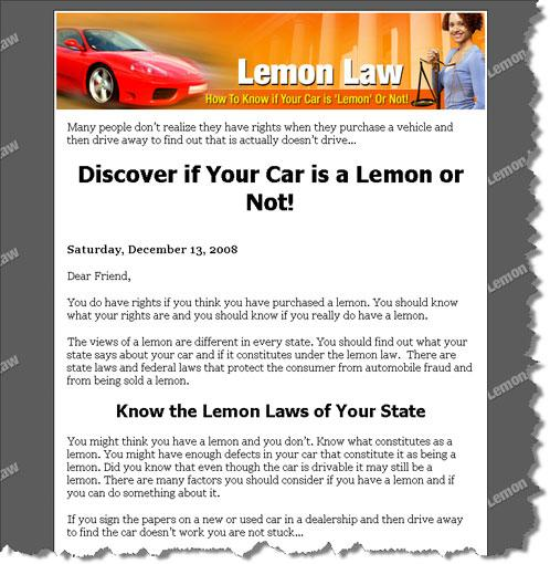 The Lemon Law