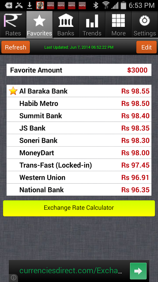 Live forex rate pakistan