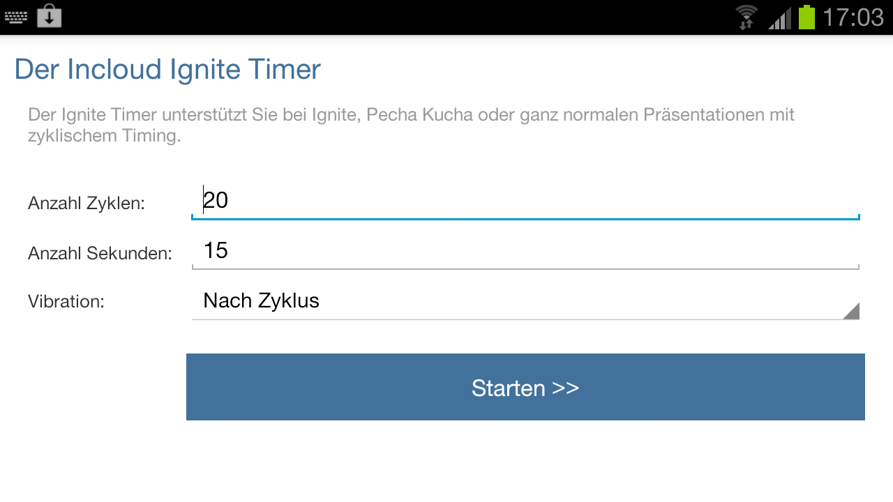 Ignite & Pecha Kucha Timer- screenshot