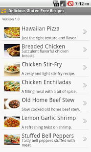Delicious Gluten Free Recipes- screenshot thumbnail