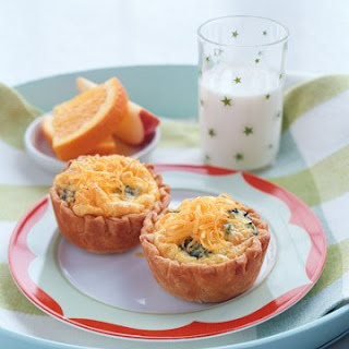 Cheese-and-Trees Mini Quiches.