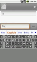 Screenshot of Keysible AlphaNumeric Keyboard