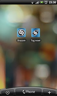 Shazam tag shortcut - screenshot thumbnail